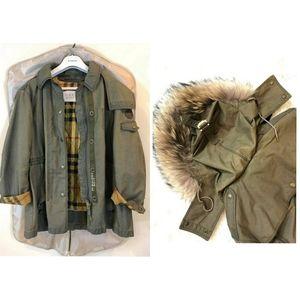 Burberry Brit utility jacket check lined parka EUC